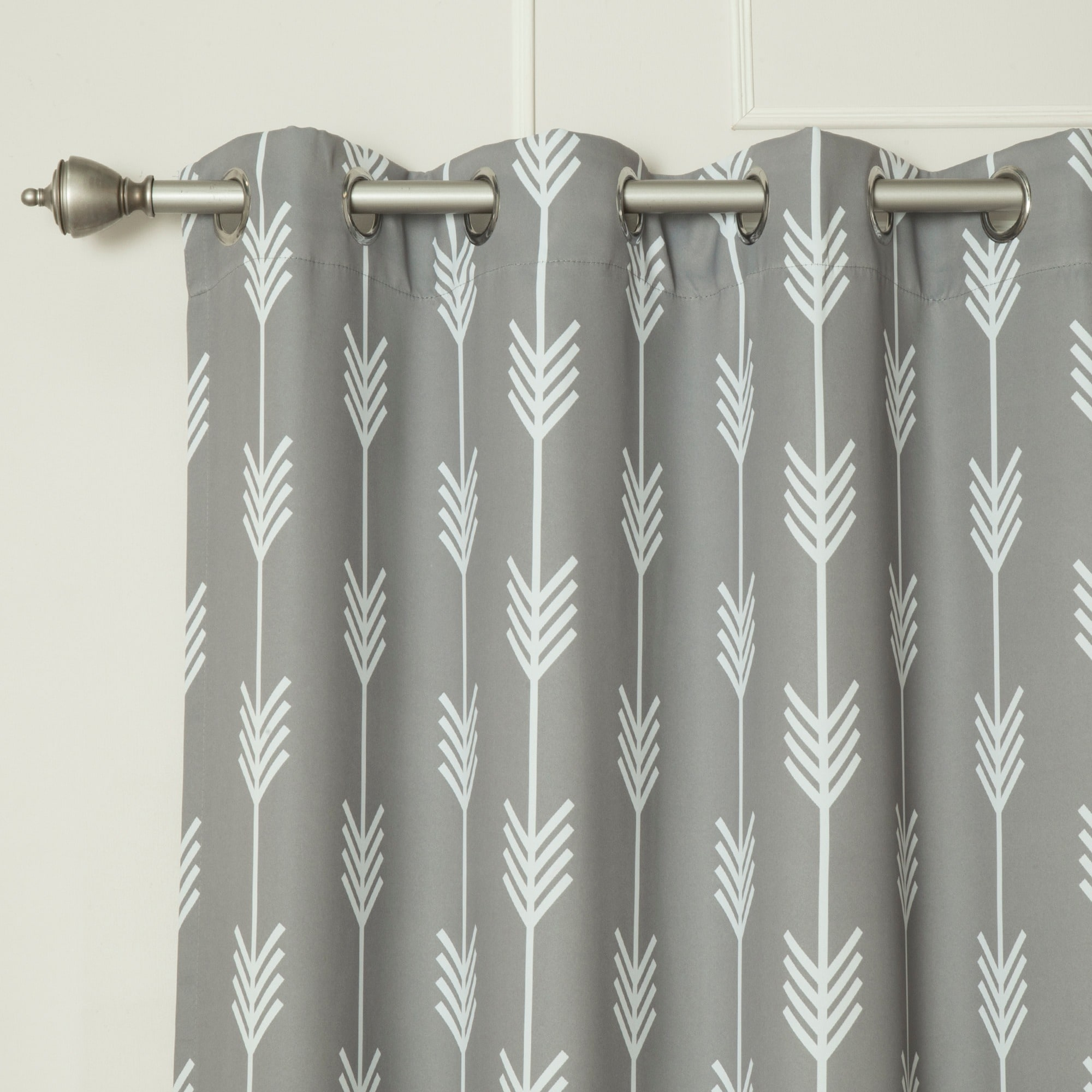 Marvelous Aurora Home Arrow 52 Inch X 84 Inch Room Darkening Blackout Grommet Curtain  Panel Pair   Free Shipping Today   Overstock.com   16614770