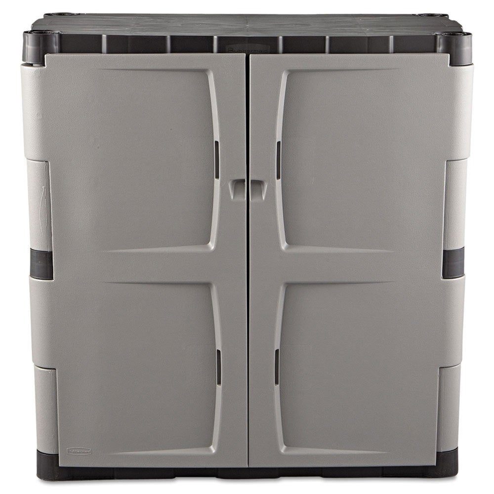Rubbermaid Greyblack Double Door Storage Cabinet Free Shipping