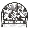Sweet Home Collection Brown Bird and Decorative Leaf Style Napkin Holder