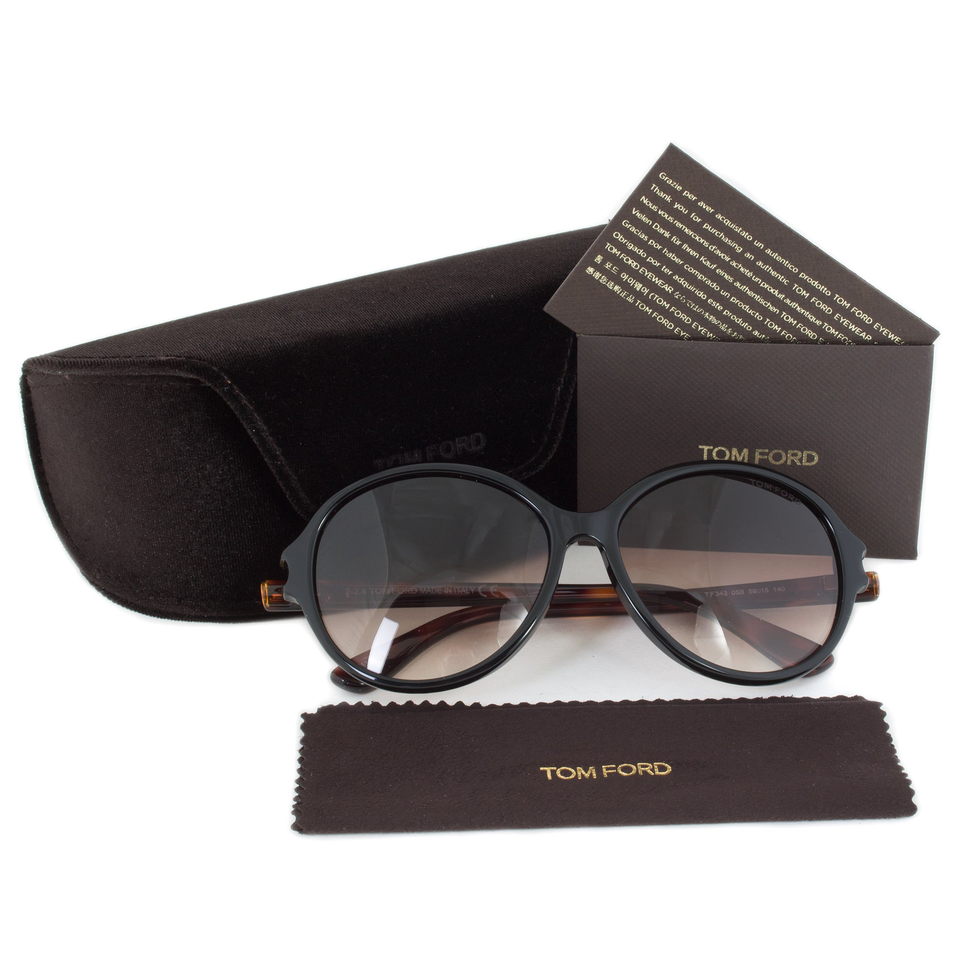 c3d945d06607 Shop Tom Ford Women s TF0343 Milena Round Sunglasses - Free Shipping Today  - Overstock - 9437168