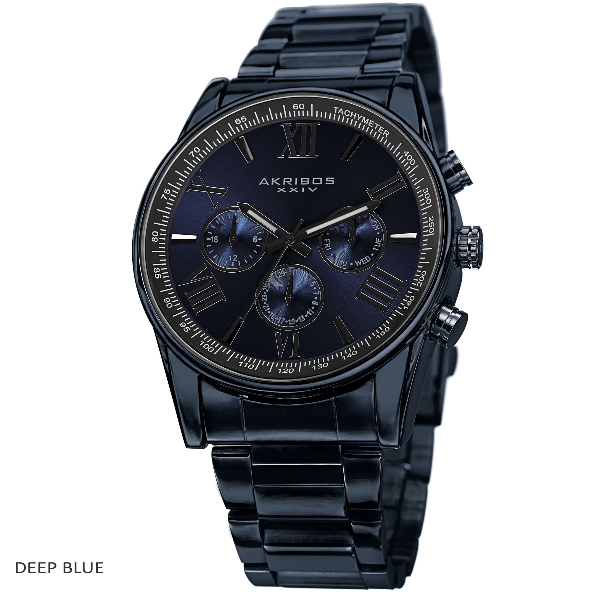 80b096d968f Shop Akribos XXIV Men s Multifunction Tachymeter Stainless Steel Bracelet  Watch - On Sale - Free Shipping Today - Overstock - 9437322