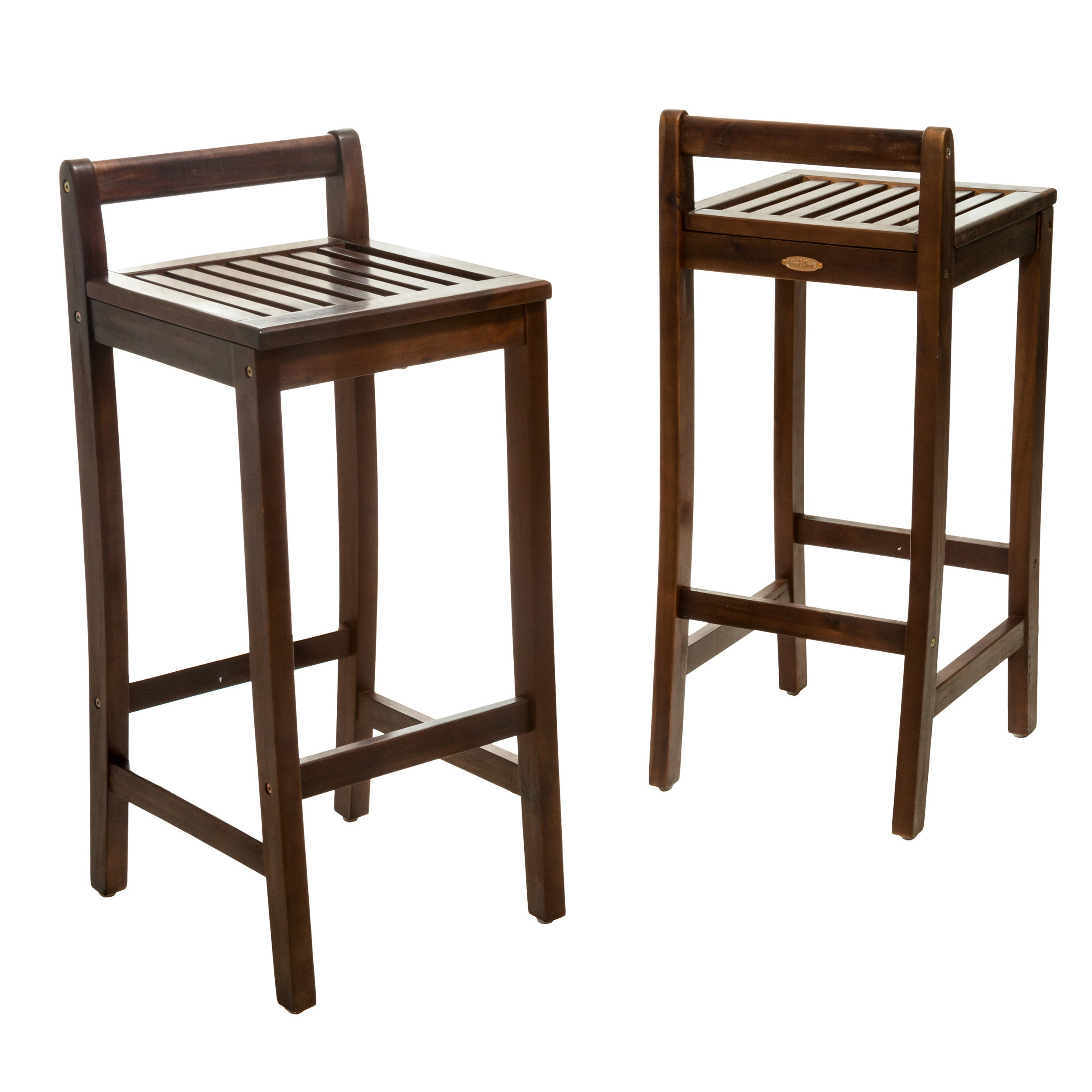Riviera 30-inch Acacia Wood Barstools by Christopher Knight Home ...