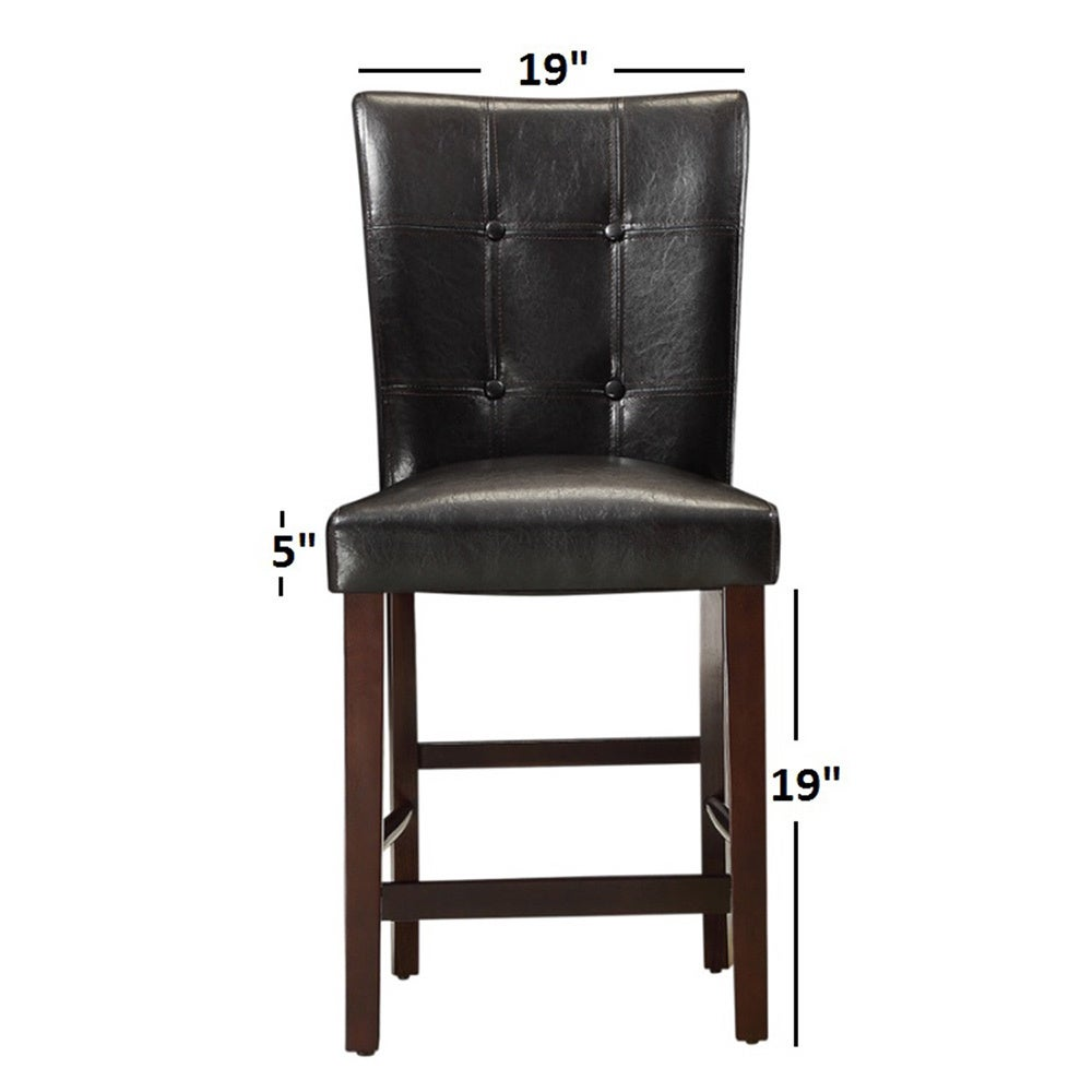 Shop colyton bonded leather high back counter height stool set of 2 by inspire q classic on sale free shipping today overstock com 9438148