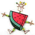 Handmade Dancing Girl Melon Slice Pin (Kenya)