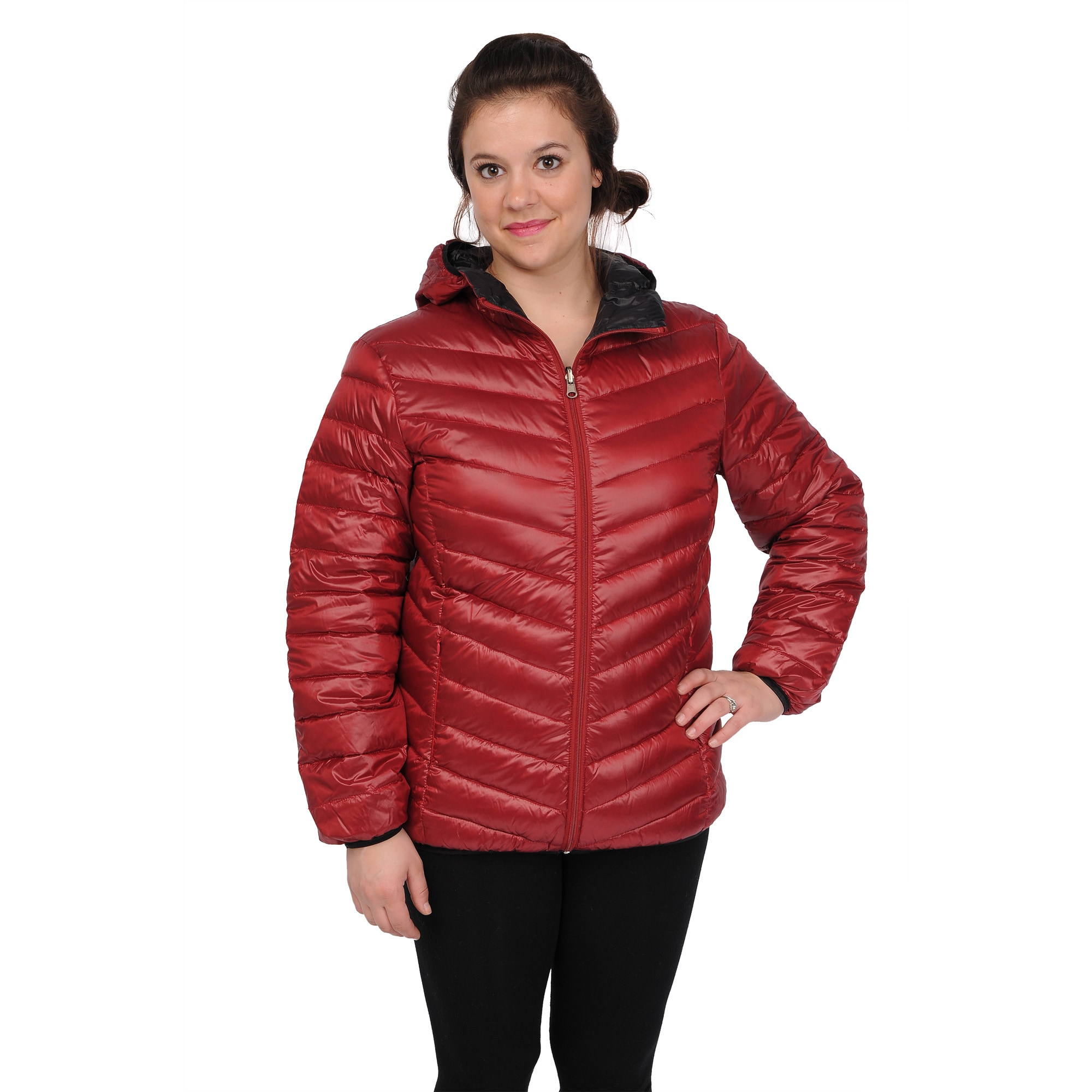 EXcelled Women's Plus Size Packable Puffer Jacket with Attached Hood - Free  Shipping Today - Overstock.com - 16627075