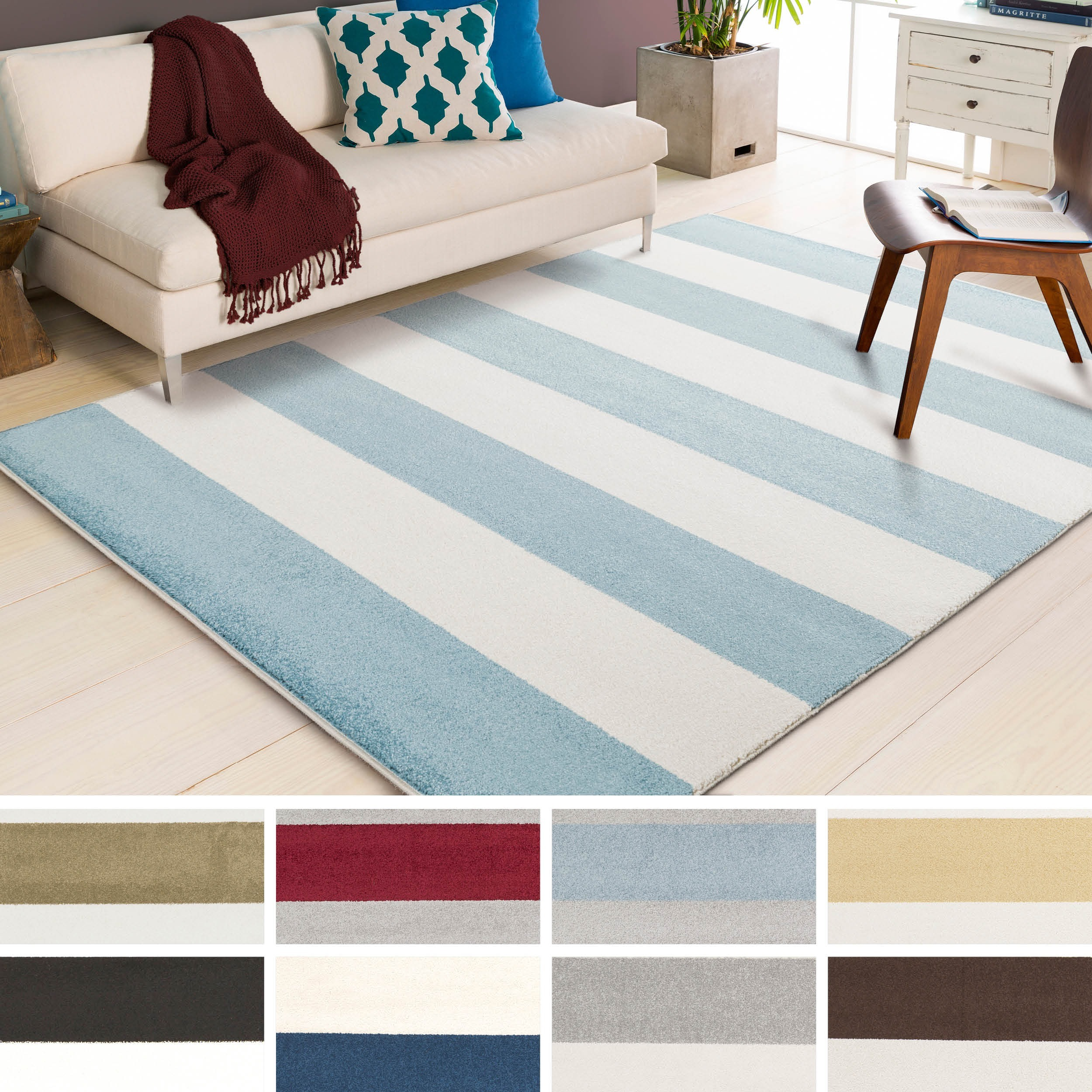 Hart Casual Striped Area Rug - 5\'3 x 7\'3 - Free Shipping Today ...