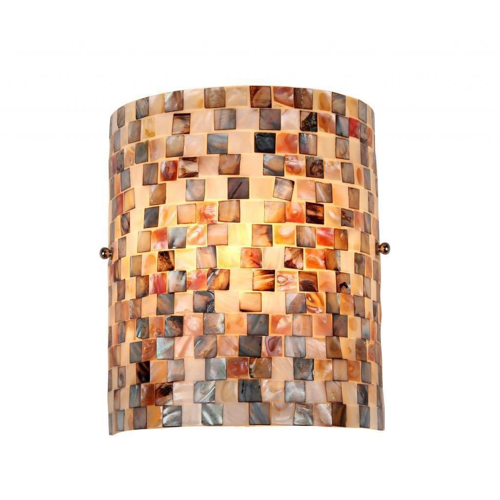 Shop Havenside Home Fenwick Sea Shell Mosaic And Glass 1 Light Wall