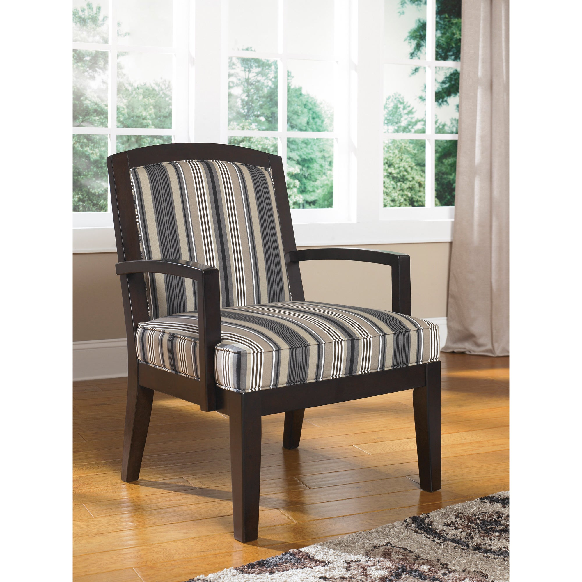 Shop signature design by ashley yvette black showood accent chair free shipping today overstock com 9442486