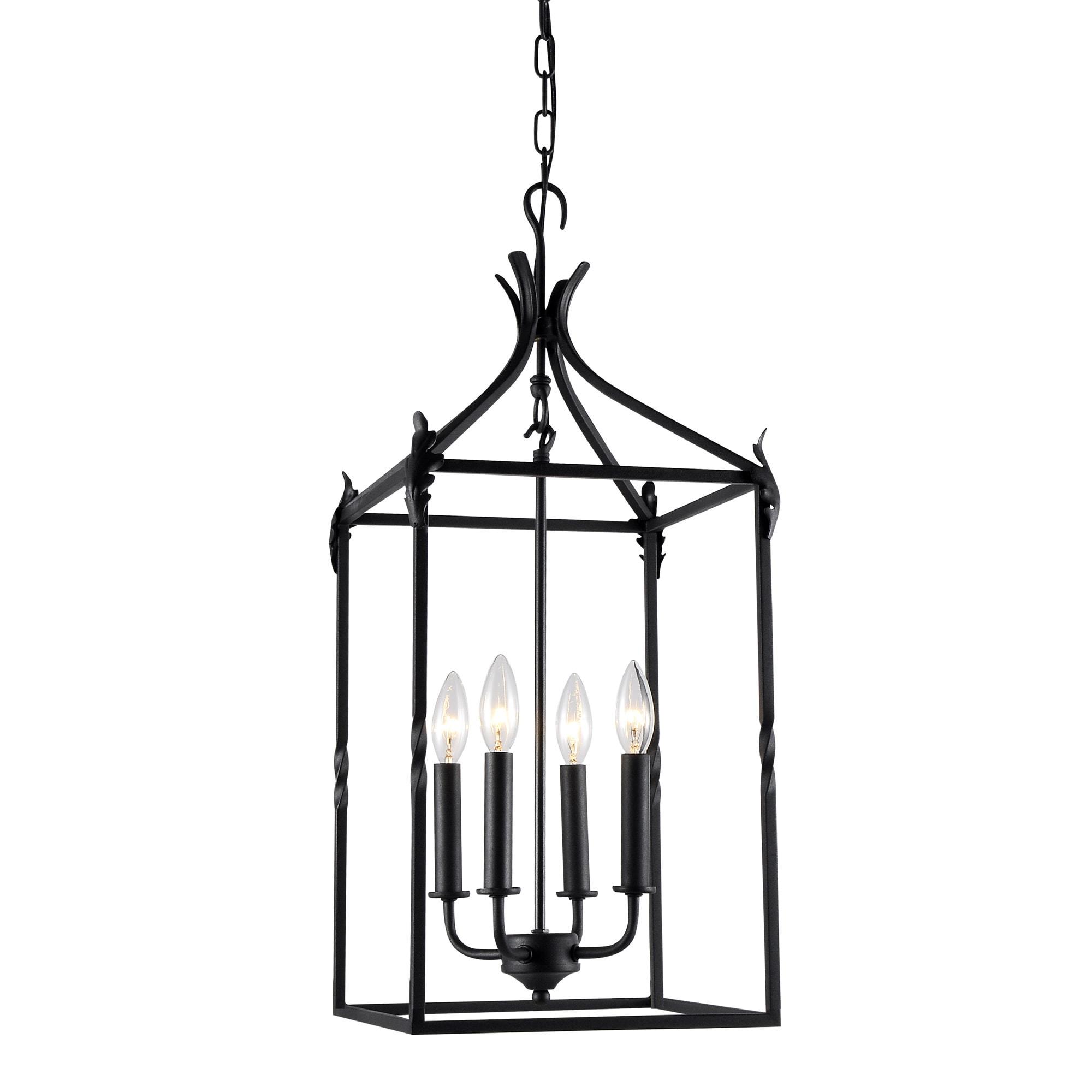 The Gray Barn Calloway Hill Iron 4 light Hanging Lantern Free