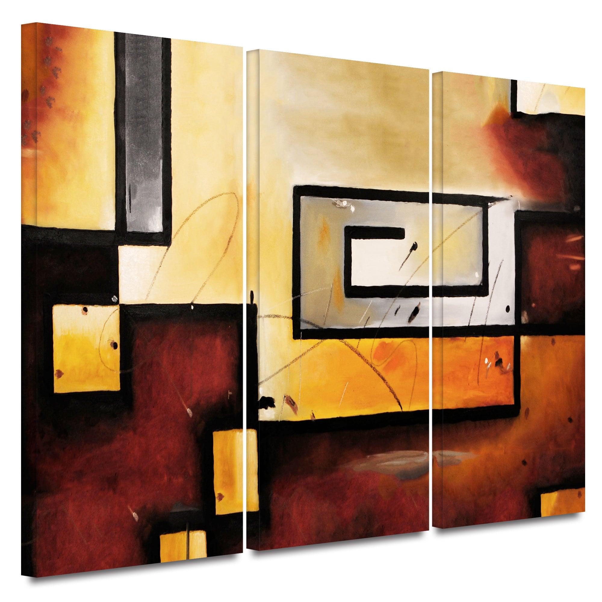 Shop ArtWall Jim Morana \'Abstract Modern\' 3 piece gallery-wrapped ...