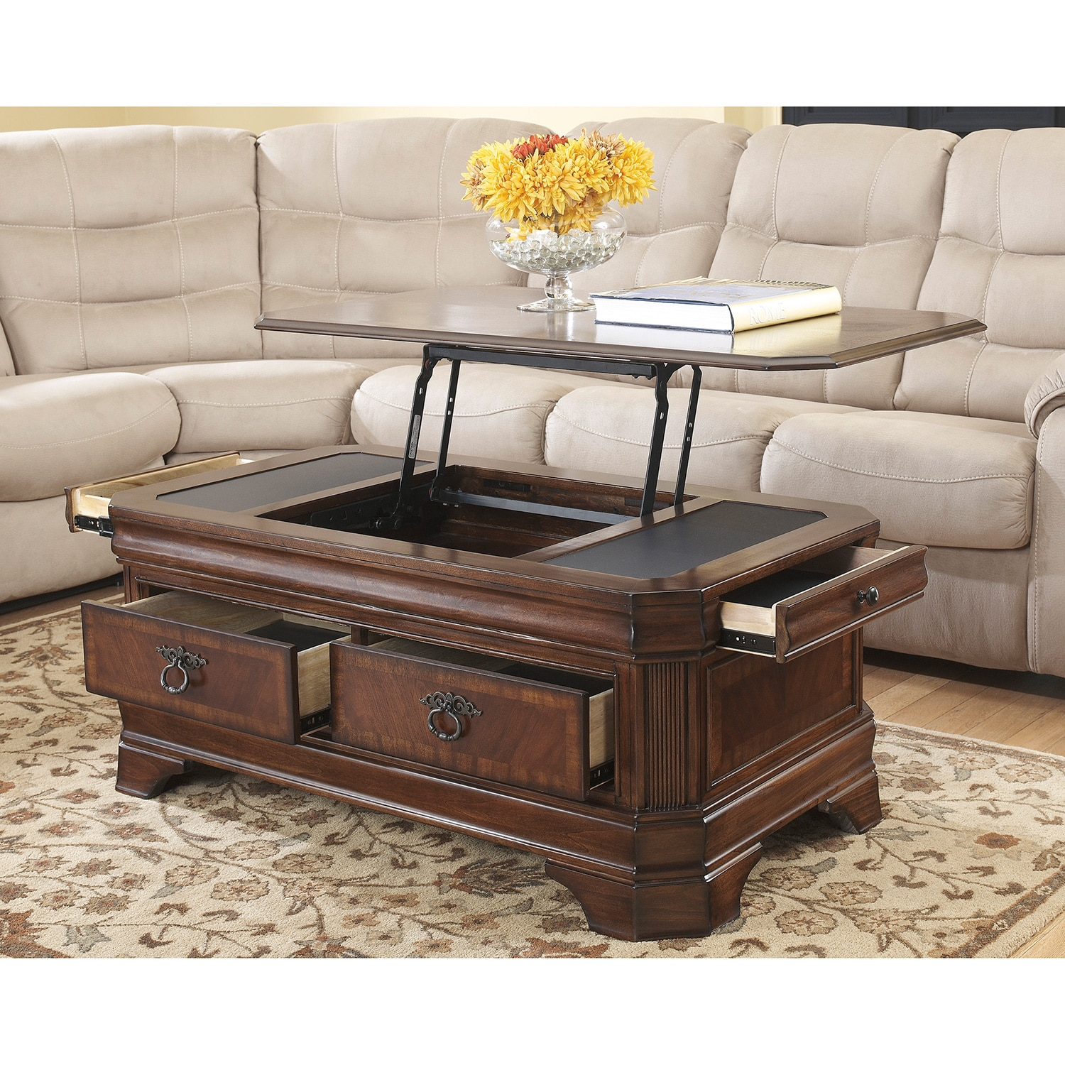 Signature Design By Ashley Hamlyn Lift Top Tail Table Free Shipping Today 9444833