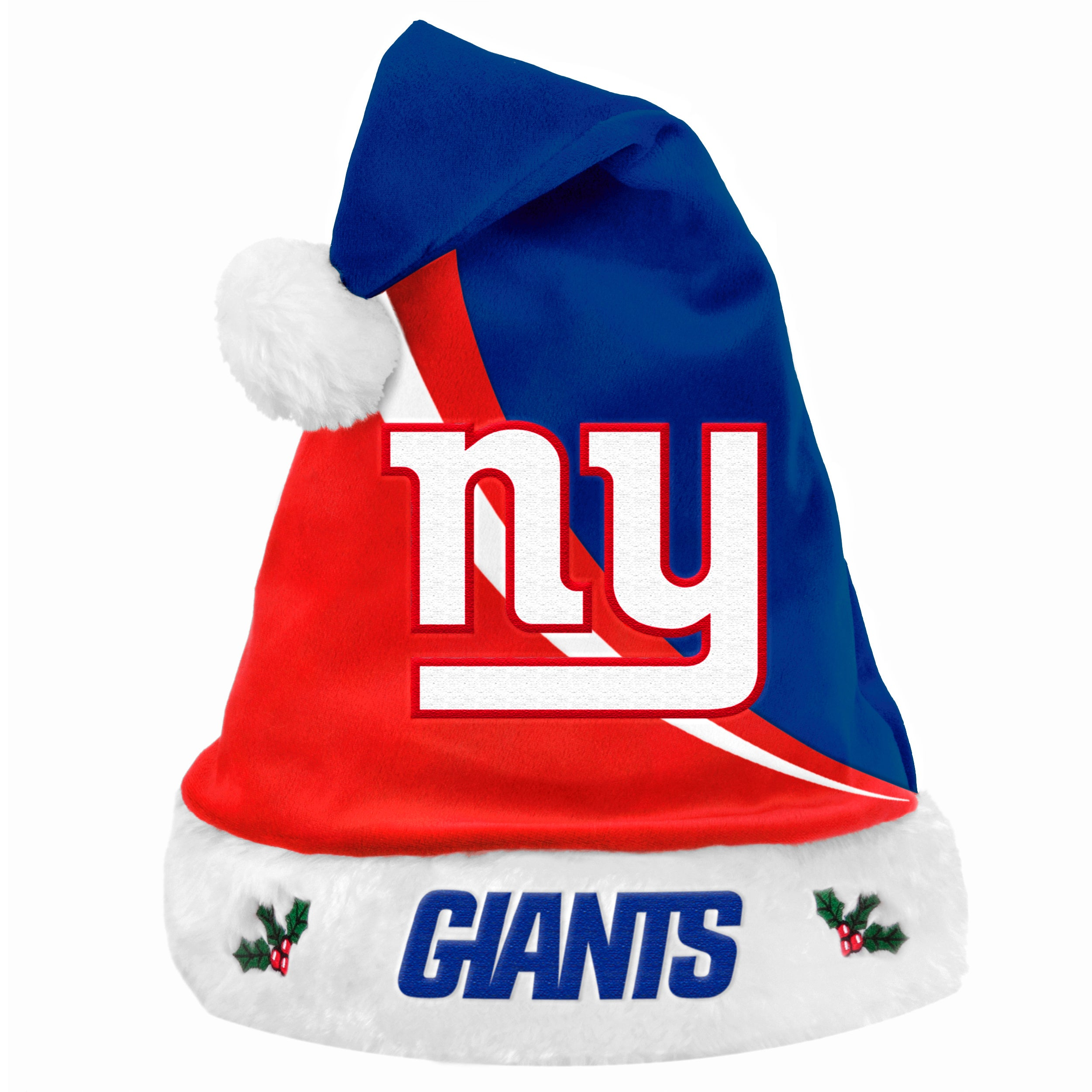 740526c12d05aa Shop New York Giants Polyester Swoop Santa Hat - Free Shipping On Orders  Over $45 - - 9444907