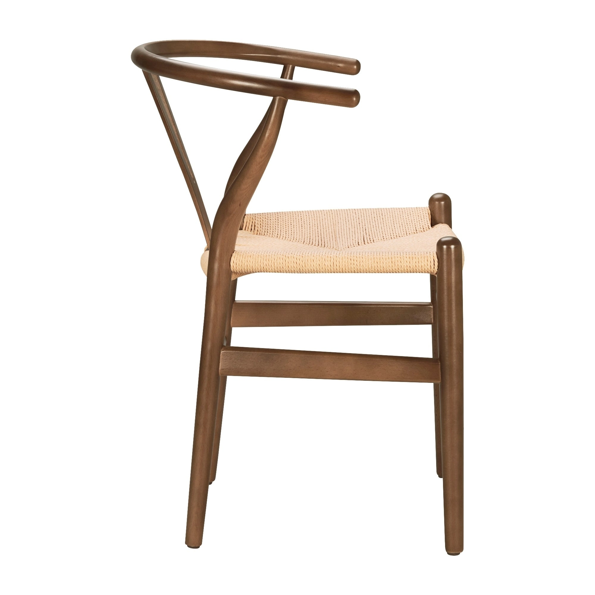 Shop Poly And Bark Rope And Walnut Finished Solid Wood Weave Chair   On  Sale   Free Shipping Today   Overstock.com   9451123