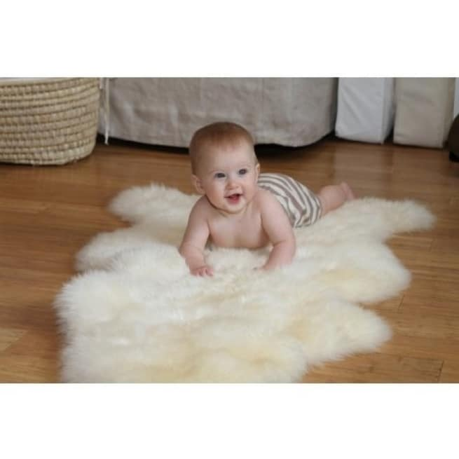 Lamby Lambskin Natural Cuddle Rug - Free Shipping Today - Overstock.com - 16643618
