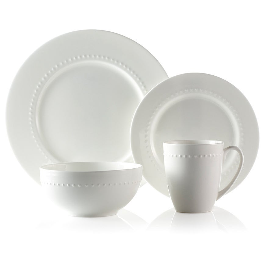 Roscher 32-piece Hobnail Bone China Dinnerware Set - Free Shipping Today - Overstock.com - 16646885  sc 1 st  Overstock.com & Roscher 32-piece Hobnail Bone China Dinnerware Set - Free Shipping ...