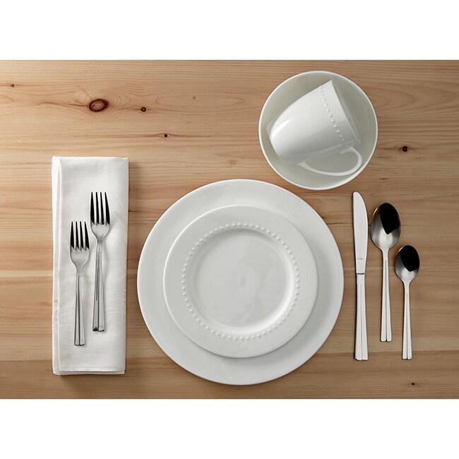 Roscher 32-piece Hobnail Bone China Dinnerware Set - Free Shipping ...