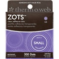 "Zots Clear Adhesive Dots-Small 3/16""X1/64"" Thick 300/Pkg"