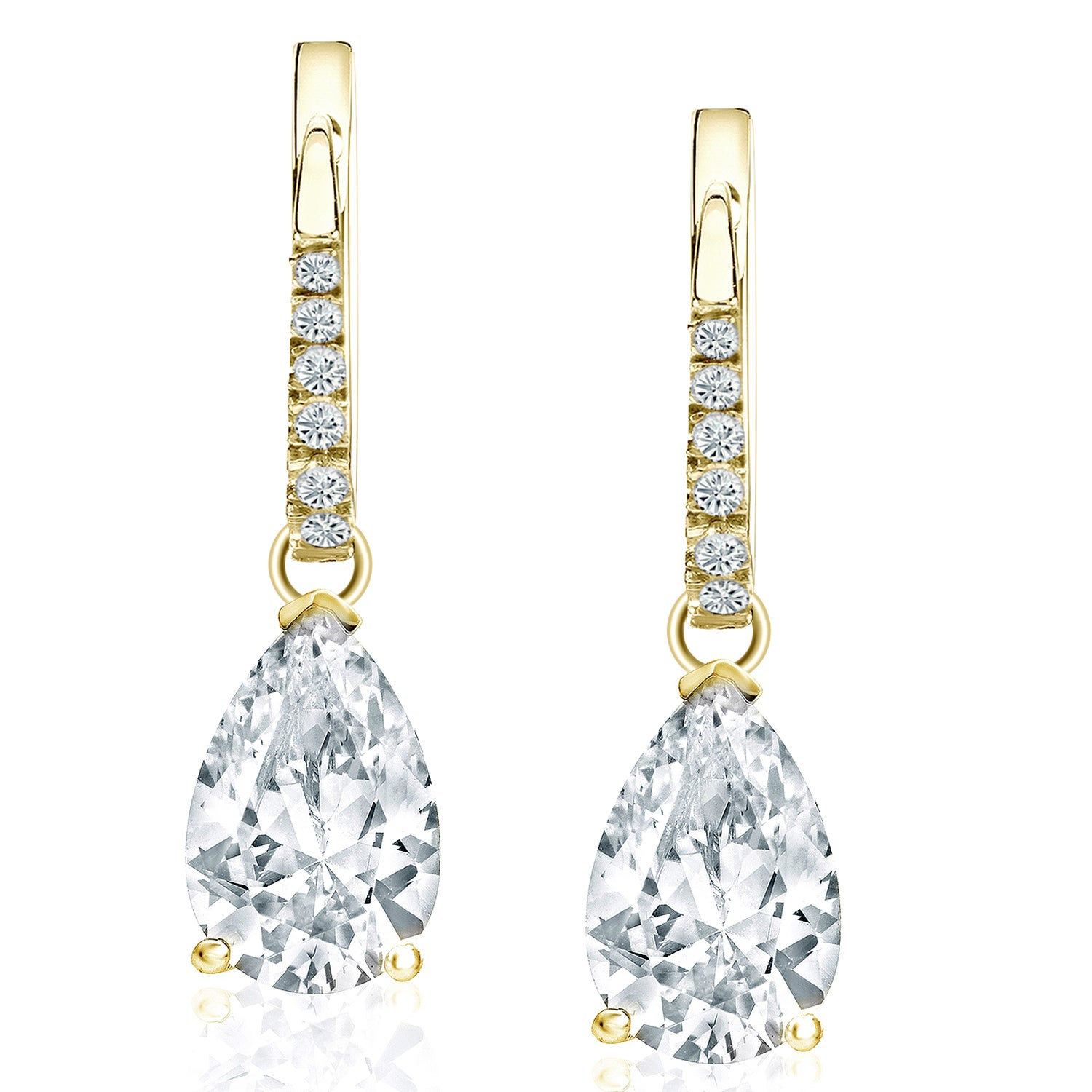 diamonds shaped and pear comprised earrings oval pin cut drop of