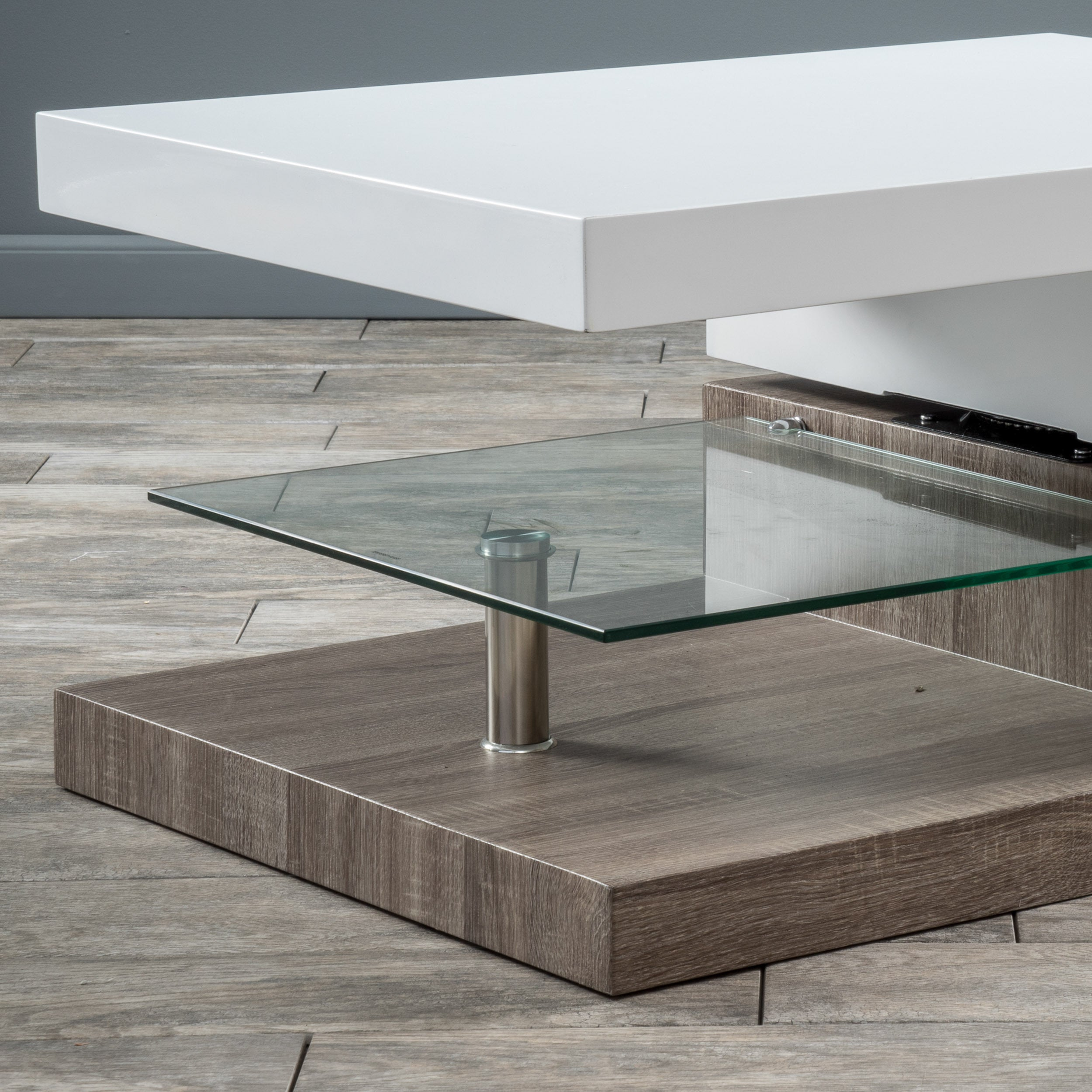 Small Rectangular Mod Coffee Table With Gl By Christopher Knight Home Free Shipping Today 9465631