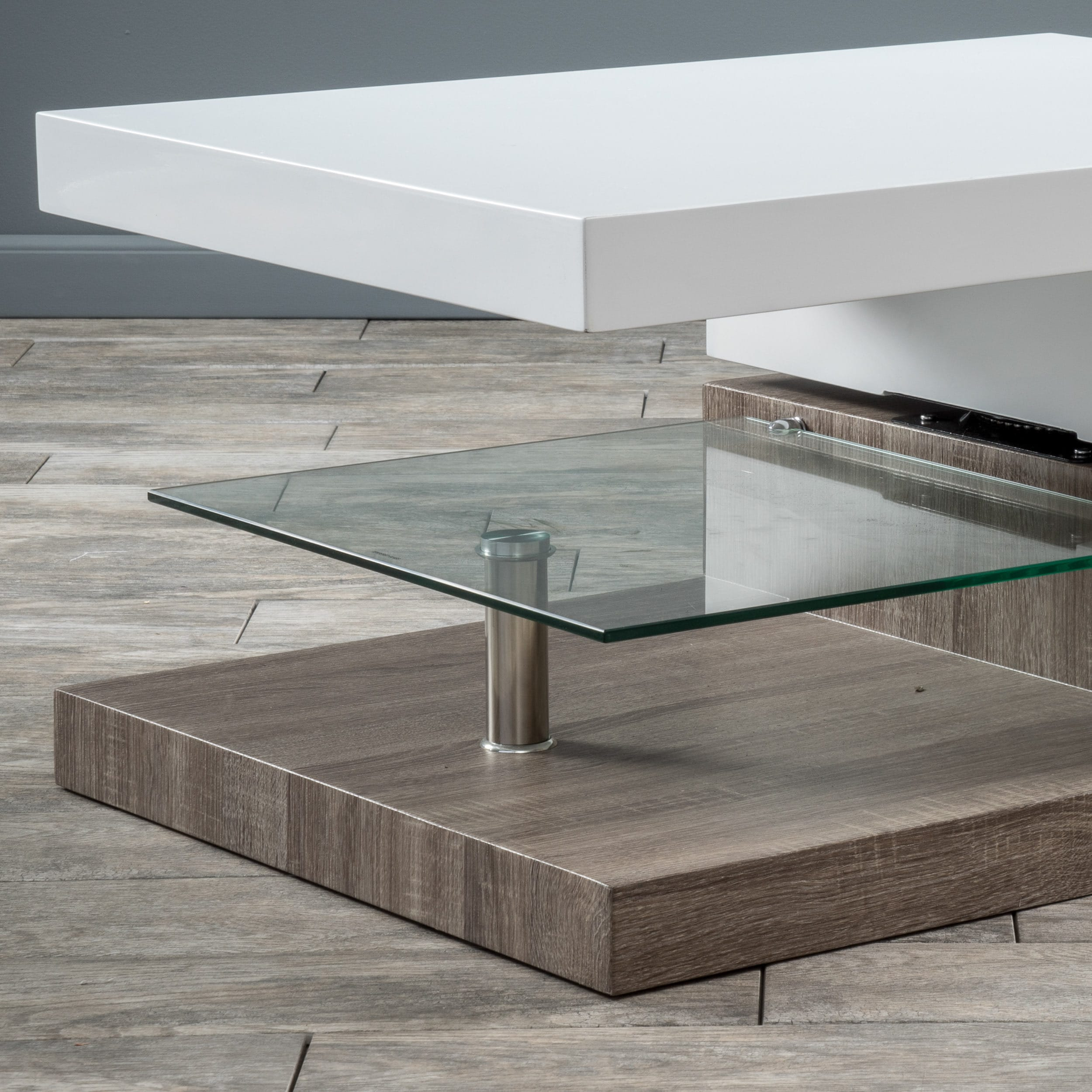 Small Rectangular Mod Coffee Table With Gl By Christopher Knight Home Free Shipping Today 16649042