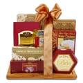 Alder Creek Burgundy & Gold Cutting Board Gourmet Food Gift Set