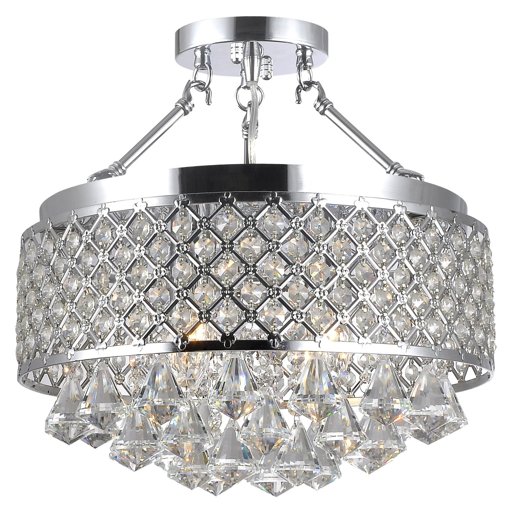 Candice chrome and crystal semi flush mount chandelier free candice chrome and crystal semi flush mount chandelier free shipping today overstock 16649629 arubaitofo Choice Image