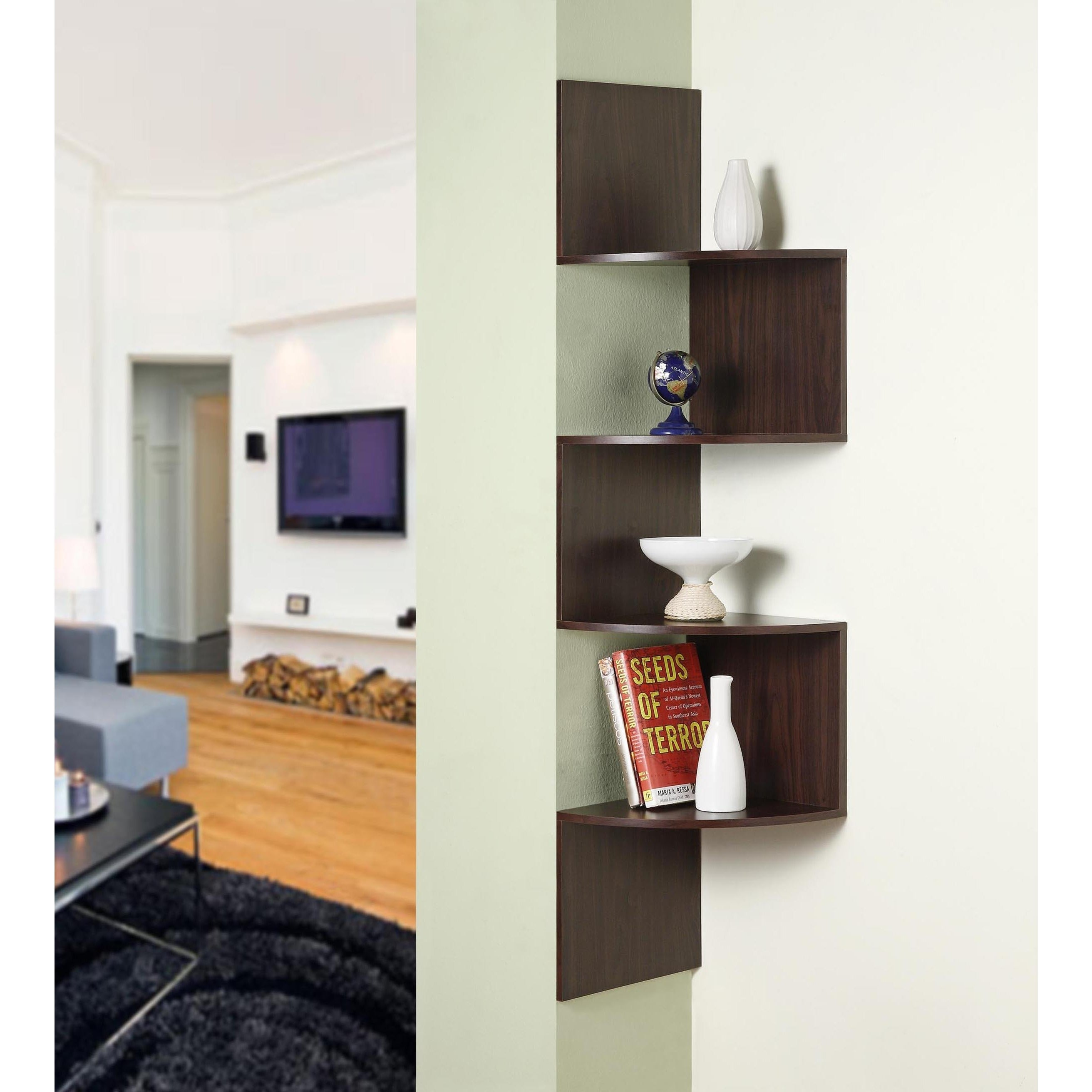 Exceptionnel Shop Hanging Corner Storage Shelves   Free Shipping On Orders Over $45    Overstock.com   9467593