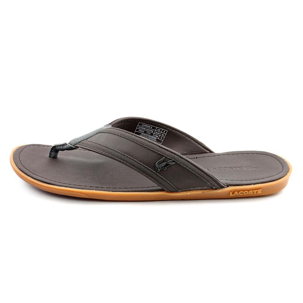 2a39b82da Shop Lacoste Men s  Carros 5  Leather Sandals (Size 9 ) - Free Shipping  Today - Overstock - 9469560