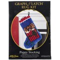 "Latch Hook Kit 12""X17""-Puppy Stocking"