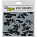 "Crafter's Workshop Template 6""X6""-Koi Pond"