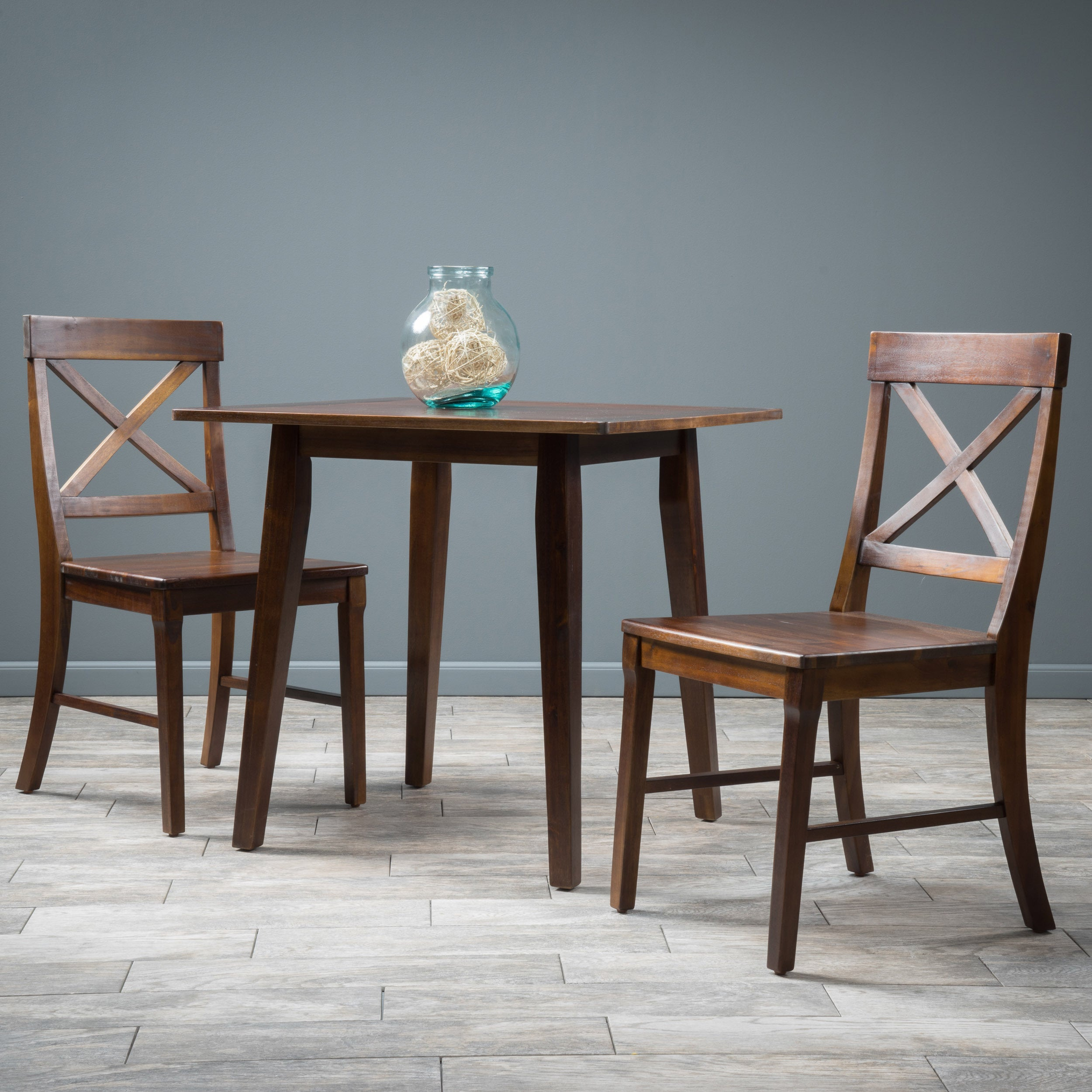 Shop Carridge Square 3-piece Wood Dining Set by Christopher Knight ...