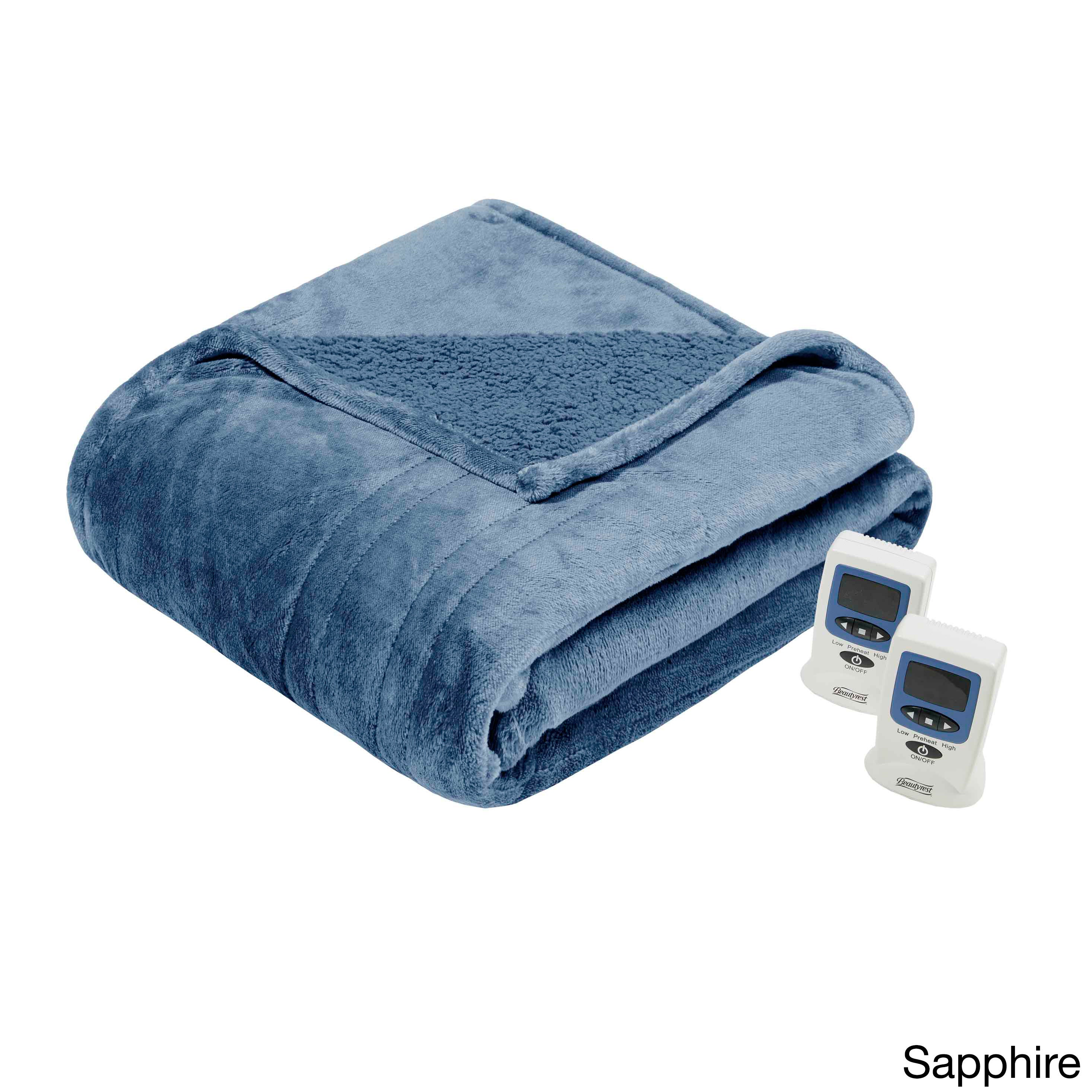 Beautyrest Solid Microlight To Berber Heated Blanket Free Shipping Today 16659779