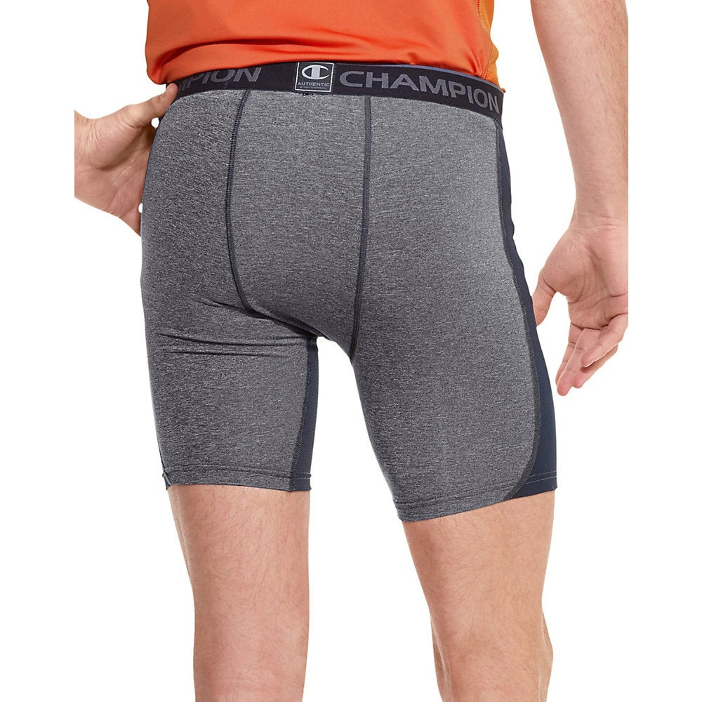 a51df5e9b79d Shop Champion Men s PowerTrain PowerFlex Solid Compression Shorts - Free  Shipping On Orders Over  45 - Overstock - 9478524