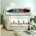 Hand-painted 'High Above the Valley' 3-piece Gallery-wrapped Art Set