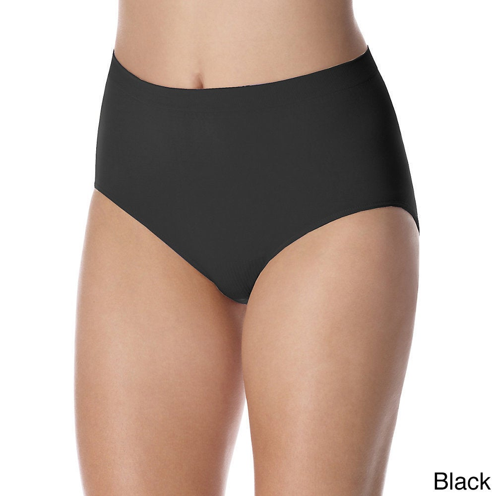 f2d6ab443 Shop Bali Women s  Barely There  Comfort Revolution Microfiber Seamless  Briefs - Free Shipping On Orders Over  45 - Overstock - 9481532