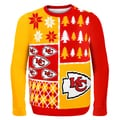 Forever Collectibles NFL Kansas City Chiefs Busy Block Ugly Sweater