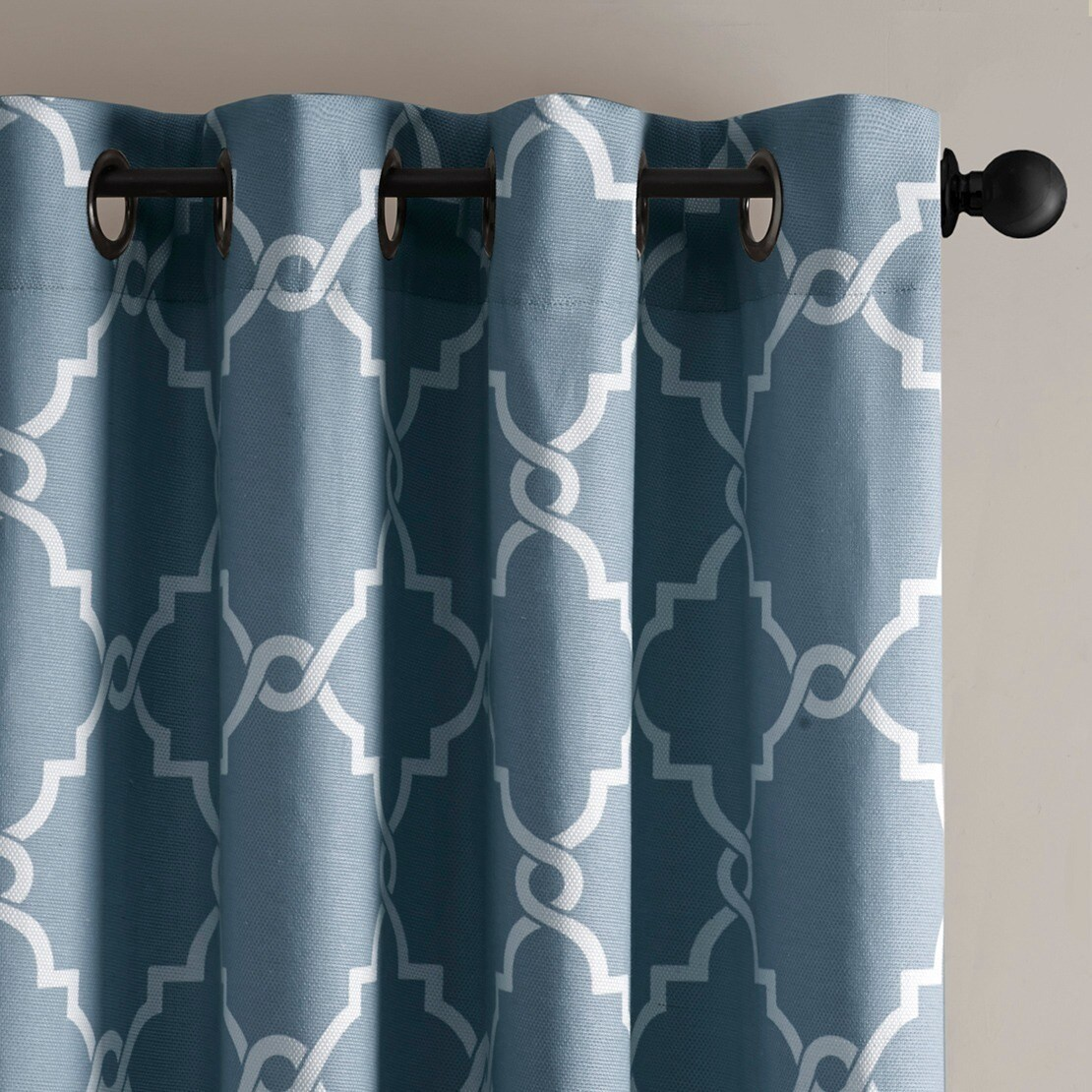Clay Alder Home Mahned Geometric Pattern Curtain Panel (Single ...