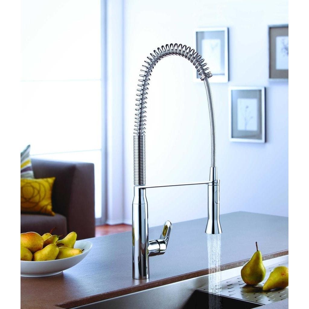 Shop Grohe SuperSteel K7 K7 OHM Sink profi-spray Medium Kitchen ...