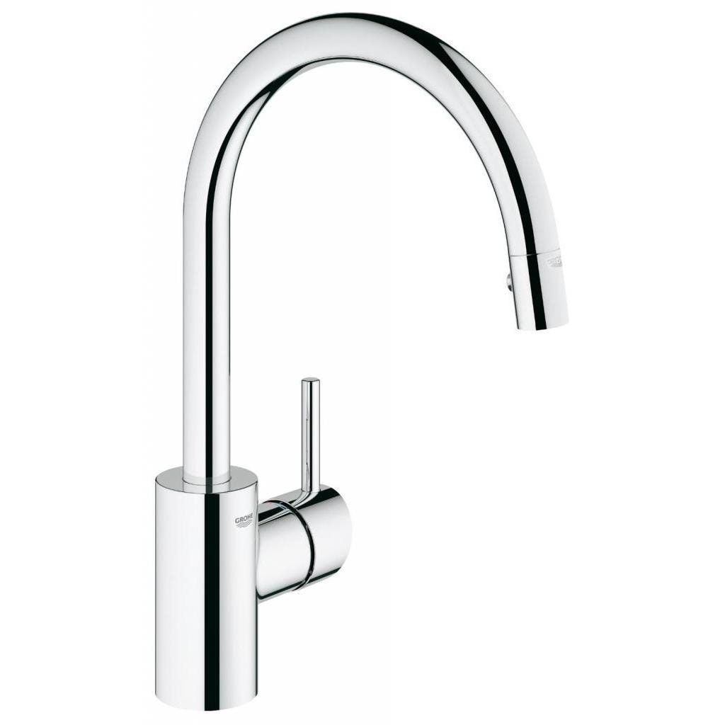 Grohe Starlight Chrome Concetto Dual Pull-down Spray Kitchen ...