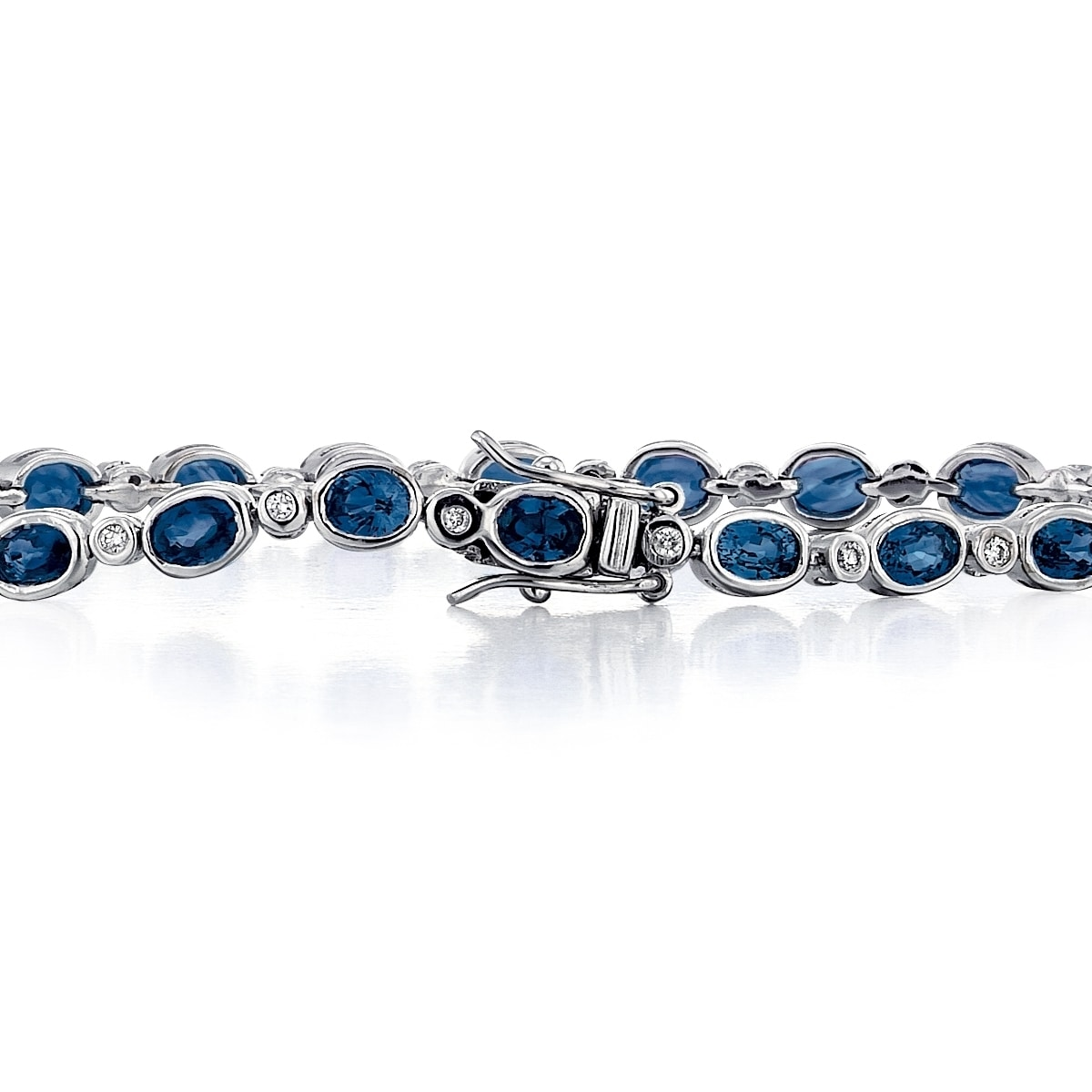 lab sterling silver tennis bracelet sapphire with pink diamond created