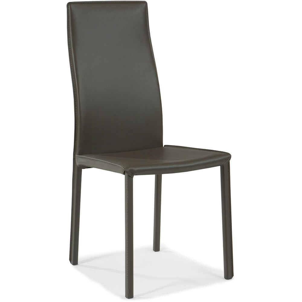 Aurelle Home Clic Italian Leather Dining Chairs Set Of 2 Free Shipping Today 16669185