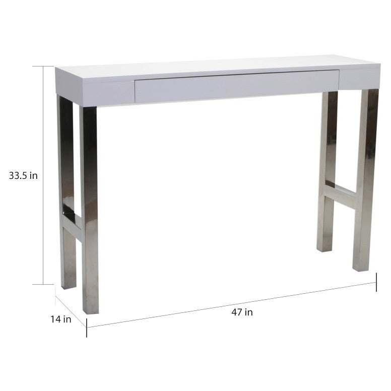 Aurelle Home White Lacquer Modern Console Table 47 X 14 33 5 Free Shipping Today 9488164