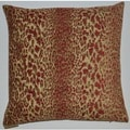 Red Purrfect Feather Filled 18-inch Decorative Throw Pillow