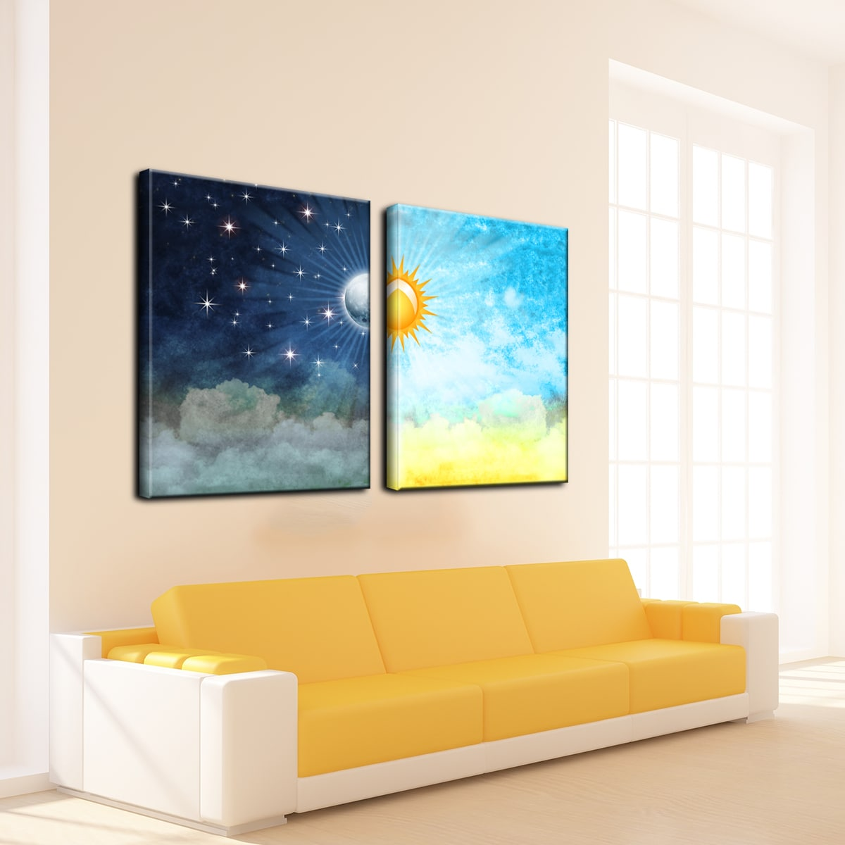 Night & Day\' Gallery-wrapped Canvas Wall Art - Free Shipping Today ...