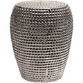 Wright Silver Metallic Garden Stool
