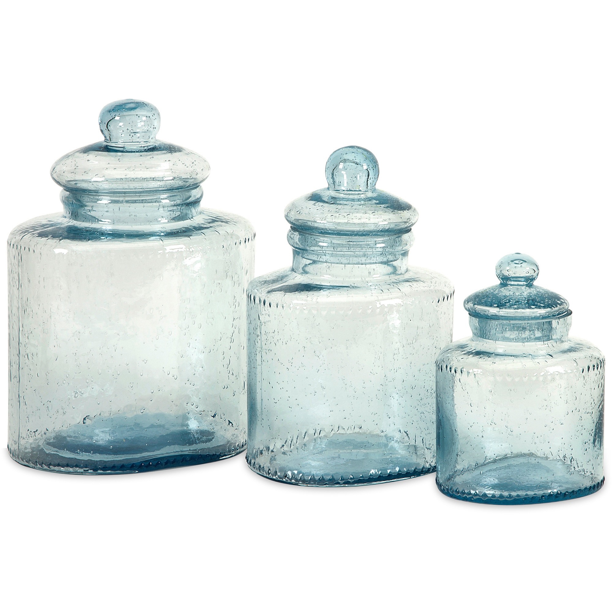 Cyprus 3-piece Glass Canister Set - Free Shipping Today - Overstock ...