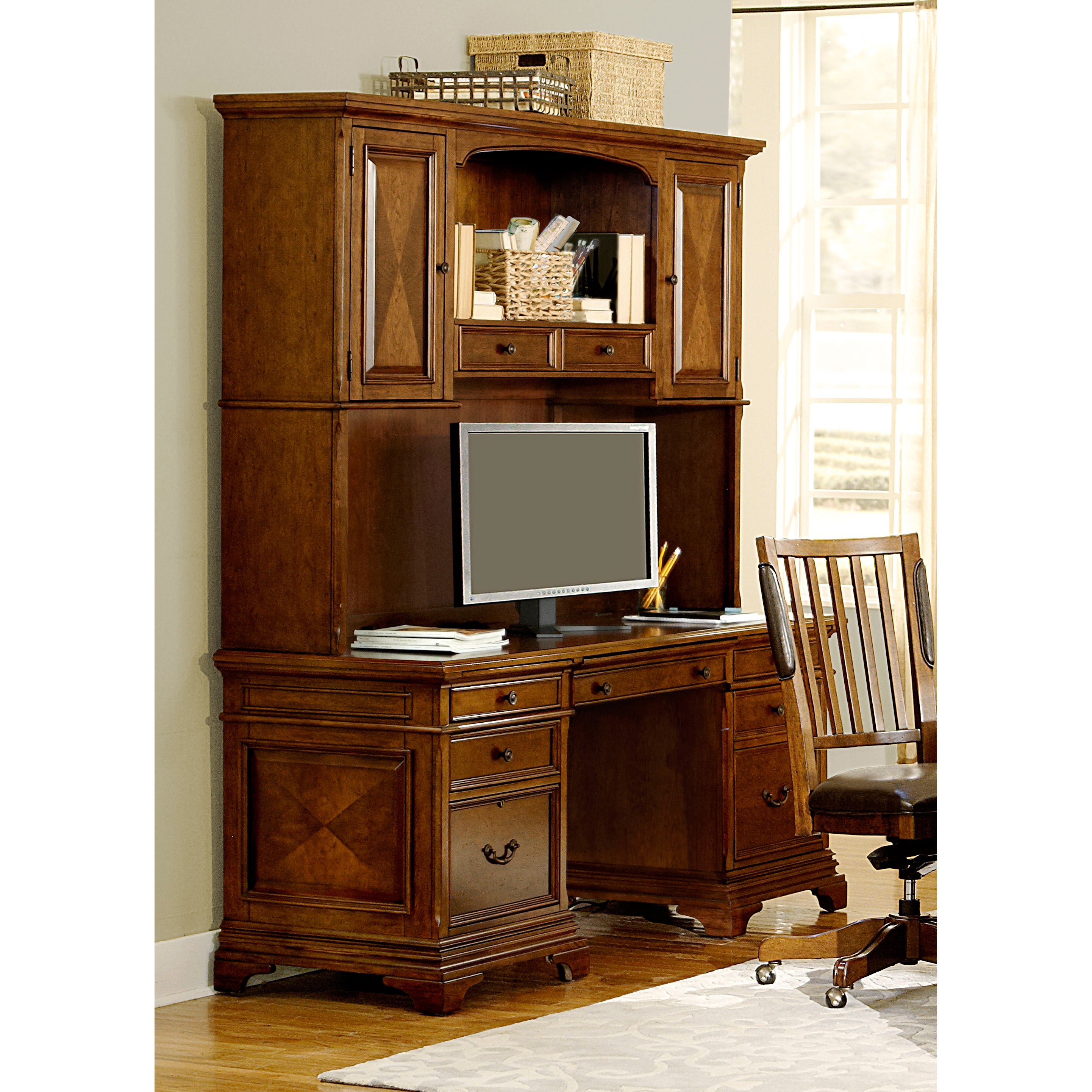 Ethan 66 Inch Curved Exec Desk Credenza Hutch File And Chair Free Shipping Today 16671144