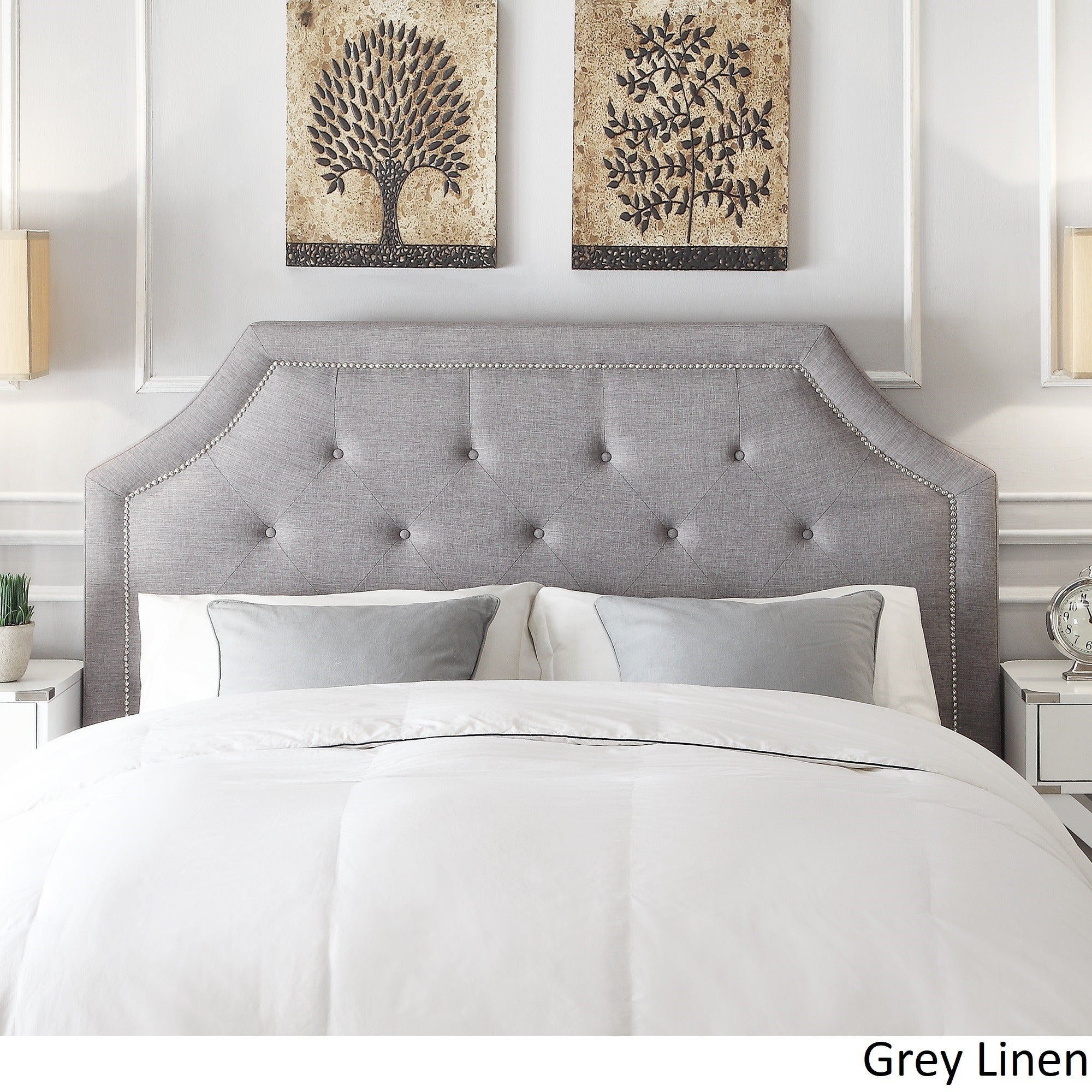 minimalist fabric king upholstered nailhead sale grey trim design headboards black diy size foam bamboo brackets kate beds up silver plans full dishing heads designs blog cherry white of fancy shelf for covered headboard plywood queen big with mr hanging padded