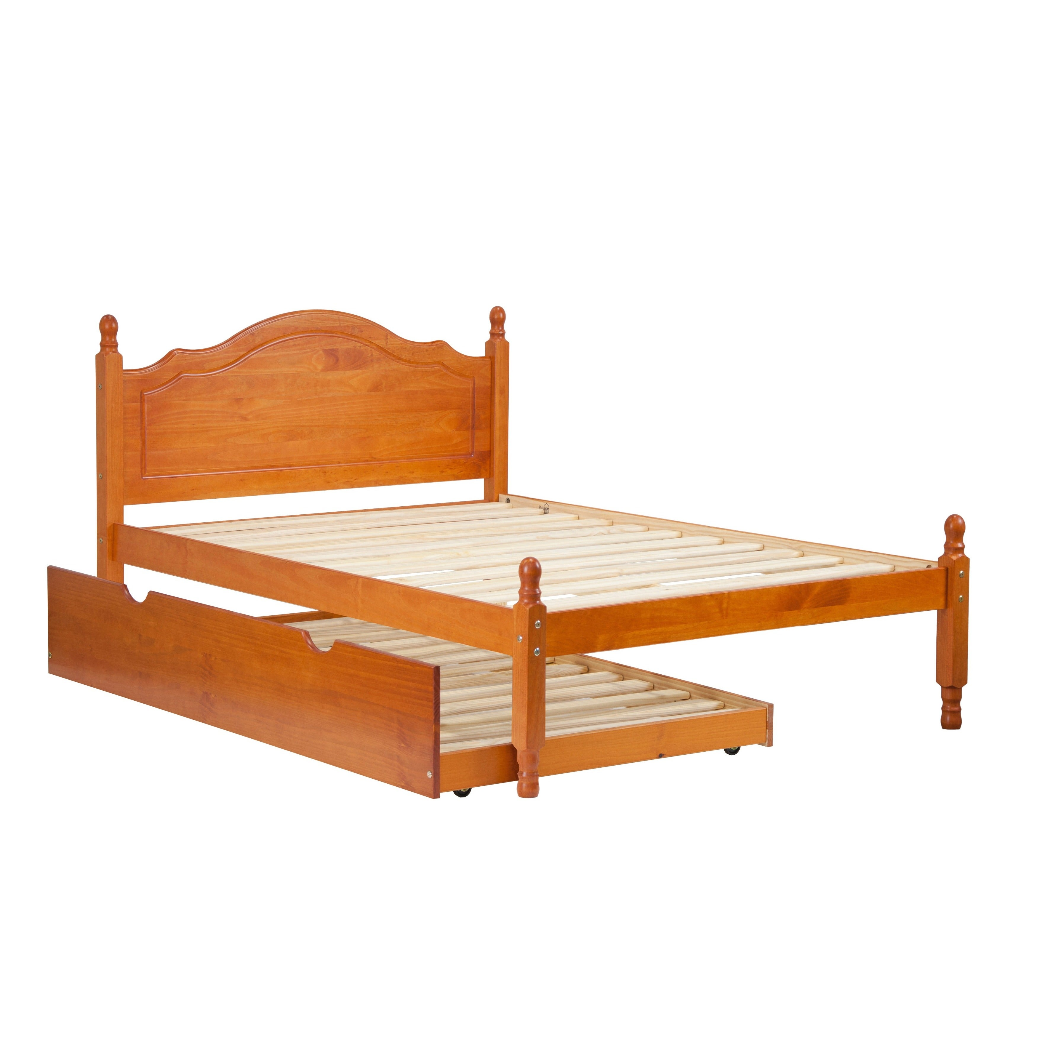 Shop reston full size platform bed solid wood free shipping today overstock com 9491584