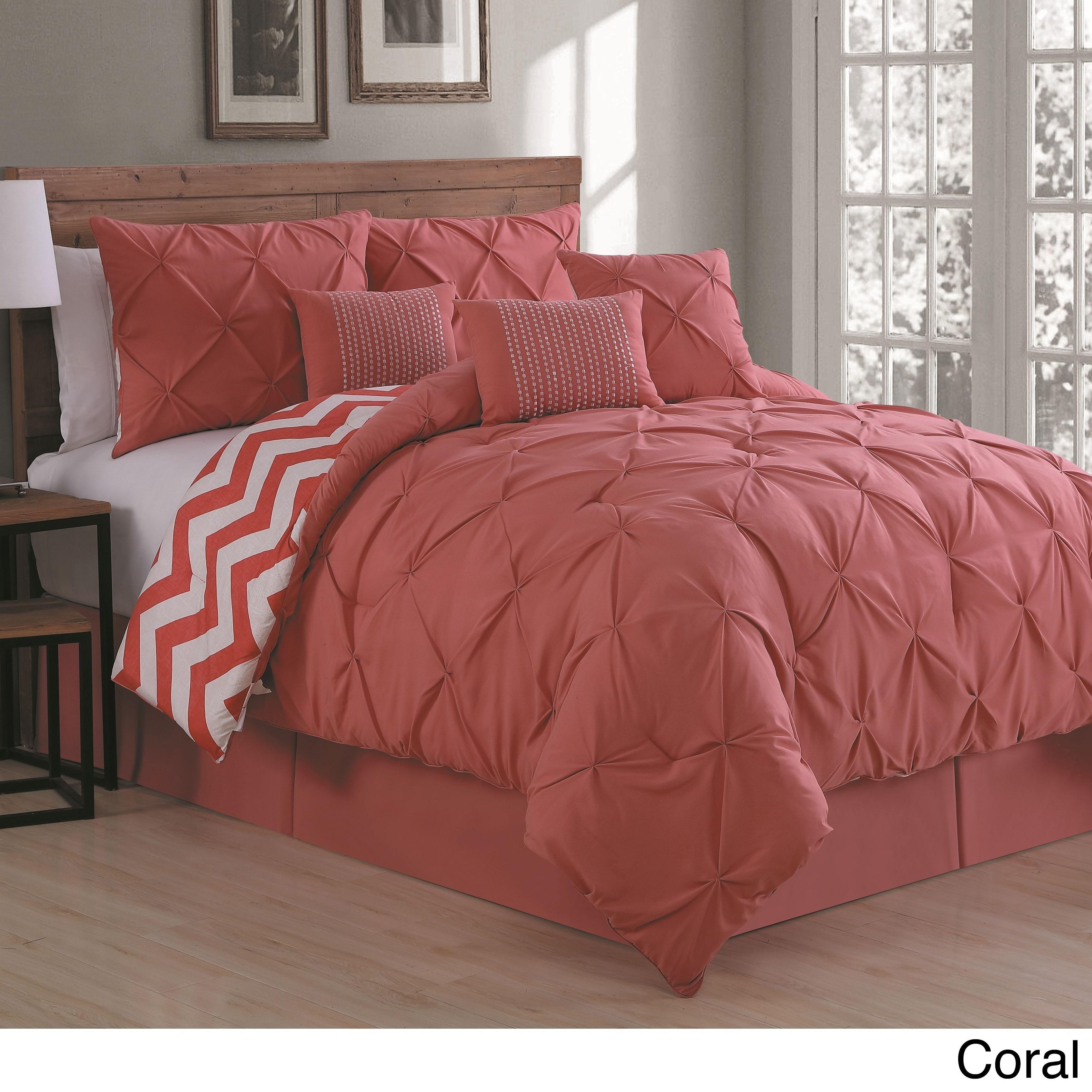 Avondale Manor Ella Pinch Pleat Reversible 7 Piece Comforter Set On Free Shipping Today 20559032